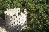 foto of loquat  - Pruning waste burner amidst a loquat plantation - JPG