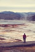 foto of mammoth  - Mammoth Hot Spring - JPG