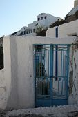 Entrance Of A House In Oia On Santorini Island