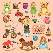 picture of doll  - toys for girl illustration - JPG