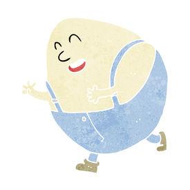 foto of nursery rhyme  - cartoon humpty dumpty egg character - JPG