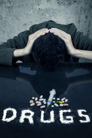 picture of overdose  - Drug addiction concept - JPG