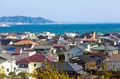 stock photo of kanto  - Landscape view of Kamakura town in Japan - JPG
