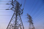 foto of power transmission lines  - electricity - JPG
