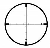 foto of crosshair  - Crosshairs of gun or gunship on white background - JPG