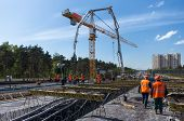 picture of street-rod  - Road construction and concreting the superstructure of the bridge - JPG