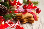 picture of cookie  - Christmas cookies with festive decoration - JPG