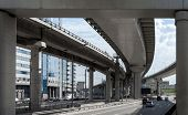 picture of underpass  - Fragment of the transport interchange in Moscow - JPG