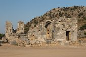 foto of dalyan  - Kaunos ancient city in Dalyan Town - JPG