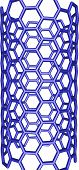 Blue Nanotube Structure On White Background