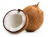 picture of eatables  - Coconut isolated on white background - JPG