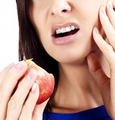 pic of gingivitis  - Woman with tooth pain - JPG