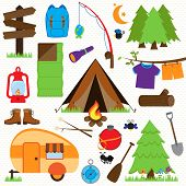 stock photo of fire ant  - Vector Collection of Camping and Outdoors Themed Images - JPG