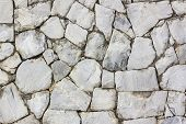 picture of wall-stone  - Close up stone wall pattern  - JPG