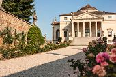 image of vicenza  - Villa La Rotonda is a Renaissance villa just outside Vicenza in northern Italy and designed by Andrea Palladio - JPG