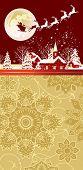 picture of sleigh ride  - Christmas night scene  - JPG