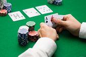 image of poker hand  - casino - JPG
