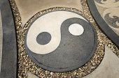 stock photo of taoism  - Symbol Yin and Yang representing Good and Bad Of Taoism - JPG