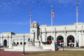 stock photo of amtrak  - Union Station  - JPG