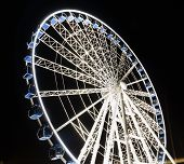 pic of ferris-wheel  - Ferris observation wheel in Poland Gdansk Old Town night view.