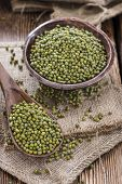 stock photo of mung beans  - Portion of dried Mung Beans  - JPG