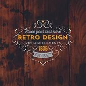 picture of wood design  - Vintage Frame for Luxury Logos - JPG