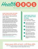 stock photo of newsletter  - Page layout newsletter for use with business or nonprofit - JPG
