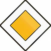 stock photo of priorities  - An official Czech regulatory road sign  - JPG
