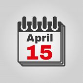 image of apr  - The Calendar 15 april icon - JPG