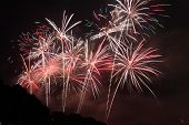image of firework display  - Beautiful Fireworks display in the night sky - JPG