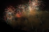 stock photo of firework display  - Beautiful Fireworks display in the night sky - JPG
