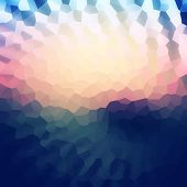 image of honeycomb  - Colorful mosaic banner for your design - JPG