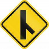 foto of merge  - Colombian road warning sign - JPG