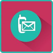 picture of sms  - Flat Vector SMS Icon - JPG