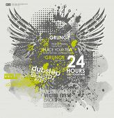 stock photo of dirty  - Grunge poster  vector background - JPG