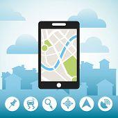 stock photo of gps  - gps location design - JPG