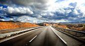 picture of road trip  - Road scenery - JPG