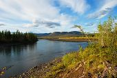 picture of taimyr  - The river and its surroundings at the end of the summer - JPG