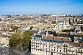 foto of bordeaux  - Aerial view of the city of Bordeaux in france - JPG