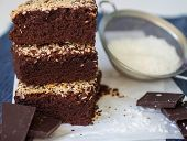 pic of brownie  - Chocolate brownie cake with coconut - JPG