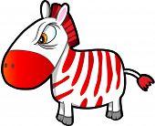 image of nasty  - Nasty Tough Zebra Vector Illustration Art  - JPG