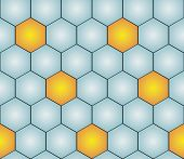 stock photo of hexagon pattern  - seamless pattern with gold  - JPG