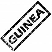 image of guinea  - Vector rubber stamp with name GUINEA - JPG