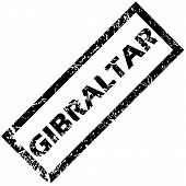 stock photo of gibraltar  - Vector rubber stamp with name GIBRALTAR - JPG