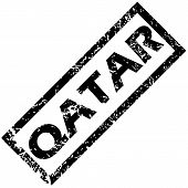 foto of qatar  - Vector rubber stamp with name QATAR - JPG