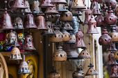 picture of edelweiss  - Decoration Metal bells from Zakopane in Poland - JPG