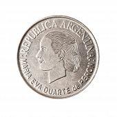 Постер, плакат: Аргентинский монета с лицом Эвита