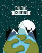 stock photo of starry  - camping design over starry background vector illustration - JPG