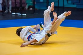 picture of judo  - Judo is a Japanese martial art philosophy and sports battle without weapons created at the end of the 19th century the on the basis of the Japanese martial art of Jujitsu Jigoro Kano  - JPG