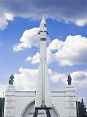 image of yuri  - Monument of the First Russian space ship  - JPG